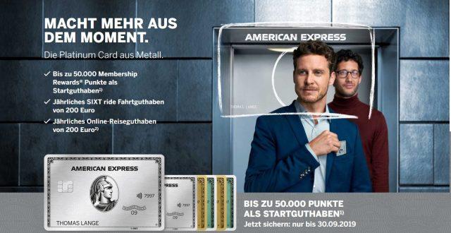 American Express Platinum Aktion