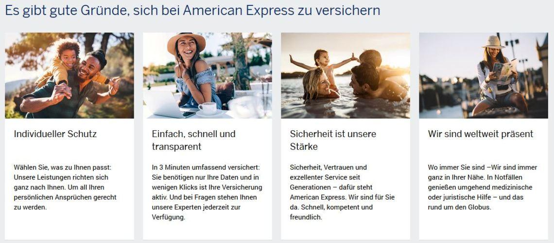 Amex Platinum Card Versicherungsleistungen