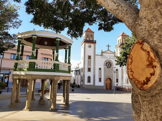Marktplatz in La Aldea de San Nicolas, auf dem Weg zum Tamadaba Natural Parque