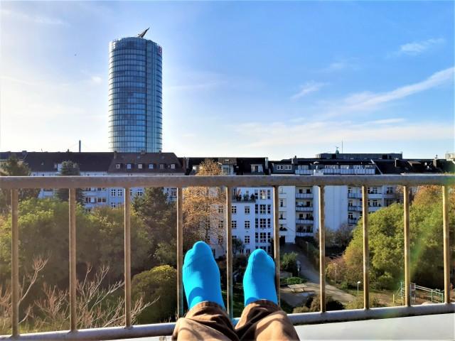 Chillen auf dem Balkon - Hotel Düsseldorf