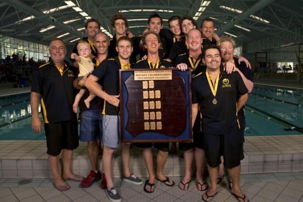 2013 Australian Underwater Hockey Championships Men's Open Gold Medal winning team: Western Australia.