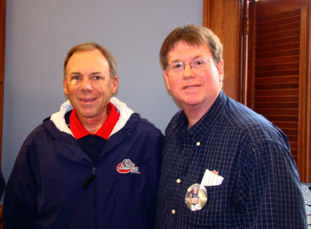 Stan Stephens meets his childhood hero, Pat Sullivan - Auburn Football