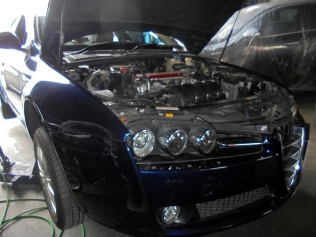 アルファ159 エンジンオイル交換&シフトノブ交換