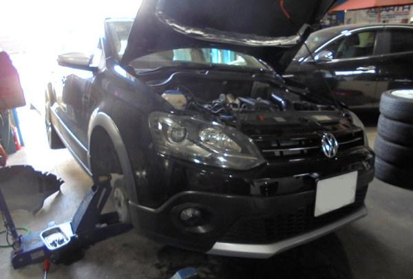 VWクロスポロ 車検整備&ウォーターポンプ交換