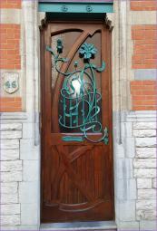 Porte Art Nouveau Bruxelles florale