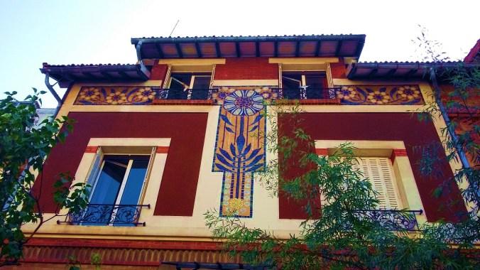 Quartier denfert Paris maison Art nouveau