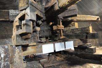 Einzige Infotafel zum Salzabbau in der Mine