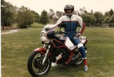 mike on his RZ 350