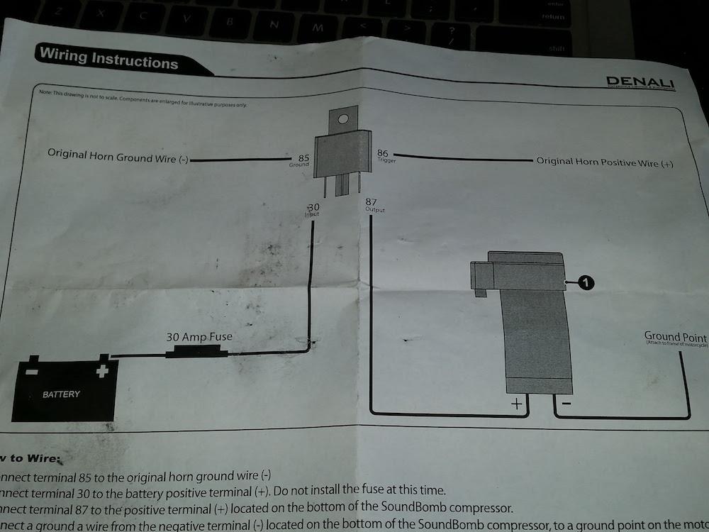 installing a denali soundbomb in a ktm 950 adventure. Black Bedroom Furniture Sets. Home Design Ideas