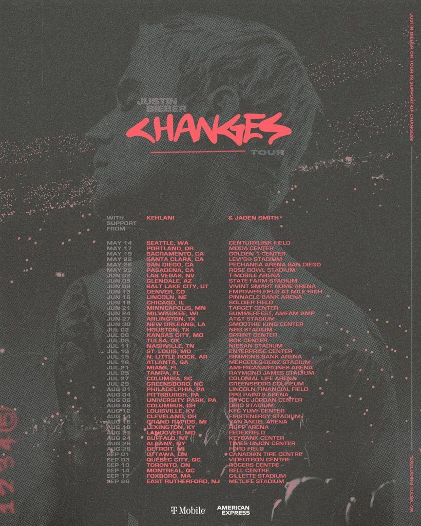 Todas las fechas y ciudades de los conciertos de Justin Beiber 2020 por EEUU