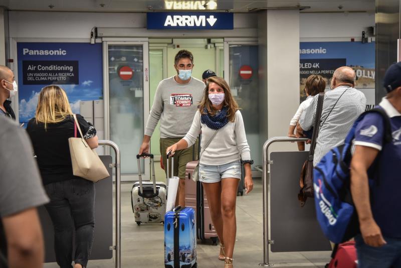 Aeropuerto de Roma controles anticovid