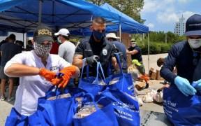 Donde están dando comida gratis en Miami