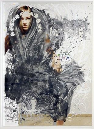"""Kirke II""   papercut, advertisementposter   180 cm x 120 cm   2009 © Foto Peter Freitag"
