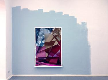 """Ausstellungsansicht """"CRISS CROSS"""", Arbeit von Astrid Busch © Foto: Anna-Maria Weber 2014"""