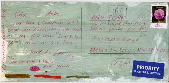 © postcard from NORA VON MENDELSSOHN, sent from Berlin, Germany