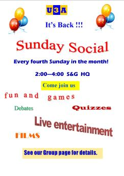 Liven up a quiet Sunday afternoon with a visit to the Sunday Social.