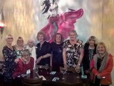 U3A Belles celebrating Julia's birthday at turquaz