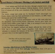 Note the change of day, time and place for this special Local History meeting.