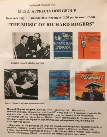Chase the winter blues away with an afternoon of the Music of Richard Rogers.
