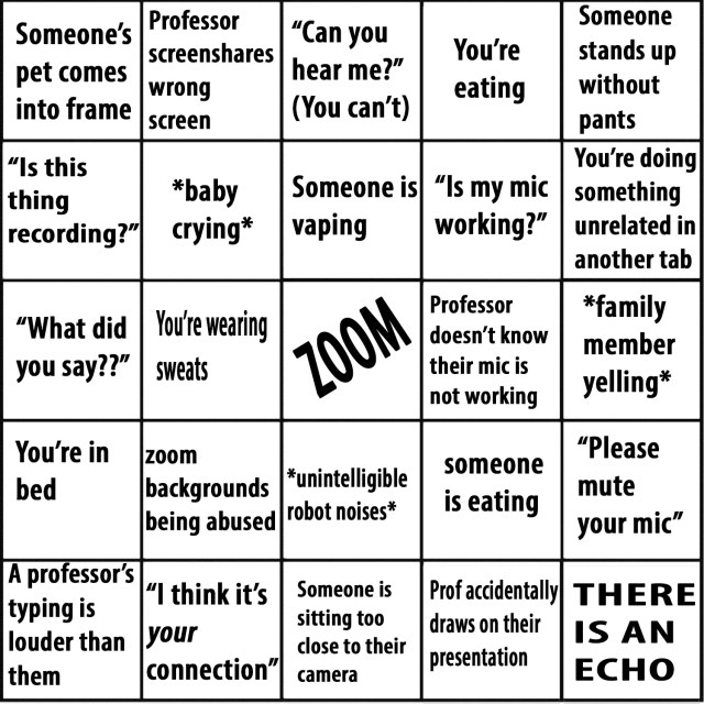 Zoom Bingo by Jacey M