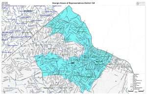 GA House District 124 map