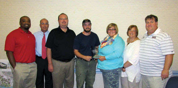 Left to right: Shannon King - Amerisure Insurance Company, Senior Loss Control Consultant Doug Sheets - BB&T Barger Insurance Greg Alvord - Amerisure Insurance Company, Marketing Underwriting Specialist Josh Ribelin - Mathers, Safety Coordinator Ashley Gauldin - Mathers, Environmental Health and Safety Director Teresa Gauldin - Mathers, President and CEO David Gauldin II - Mathers, Executive Vice President