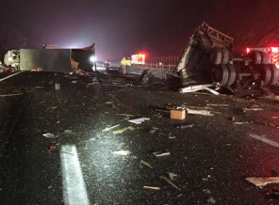 11-17-19 I64 Afton Mountain Crash