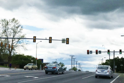 South Main Street turn lanes