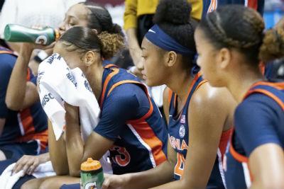 uva women basketball bench
