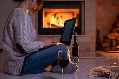 laptop wine