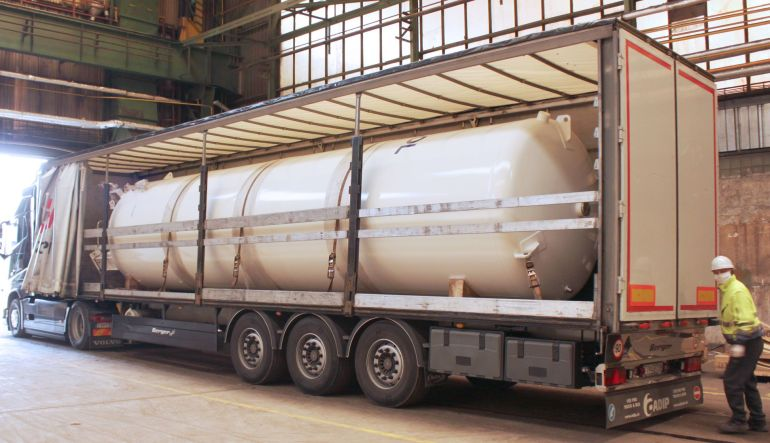 20.000 liter LOX vessel shipped to Italy