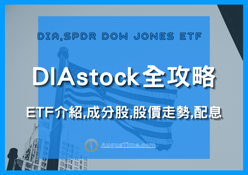 DIA stock,ETF介紹,成分股,股價走勢,配息有多少?