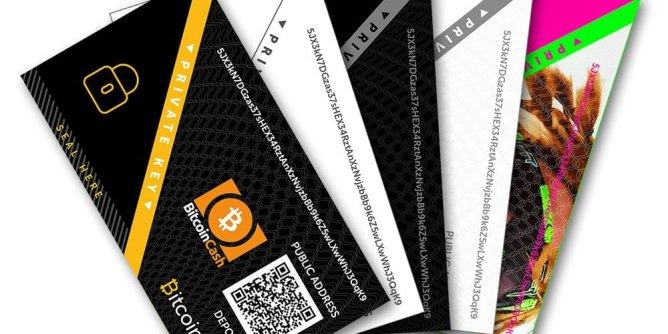carteira de papel de criptomoedas