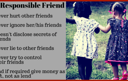 What Should A responsible Friend Do To Other Friends?