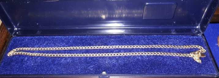 Kultaketju, 14k, paino 7,5 gr