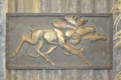 Jussi Mäntynen pronssi reliefi