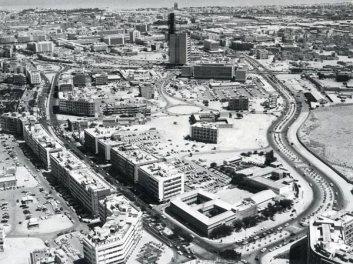 Old Modern Kuwait City Aerial Fahad al-Salem Street