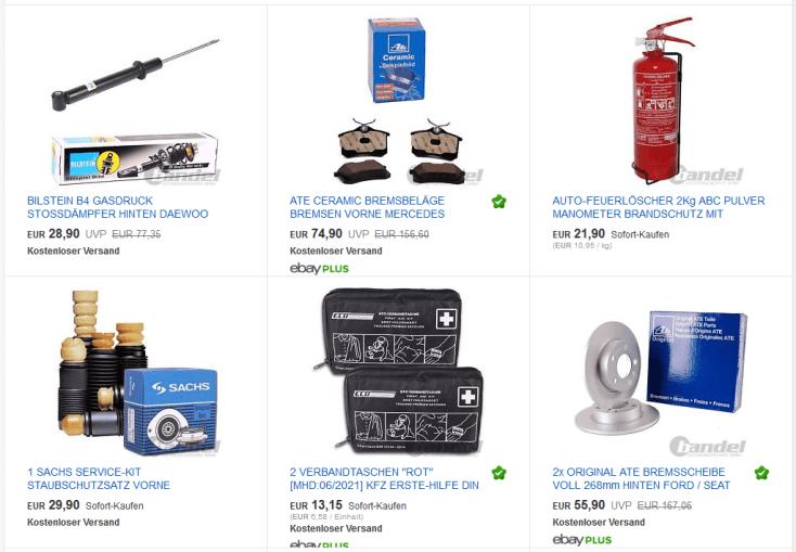 eBay Coupon Bandel Artikel