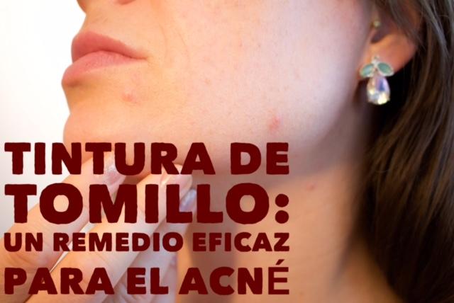Tintura de tomillo: un eficaz remedio para el acné
