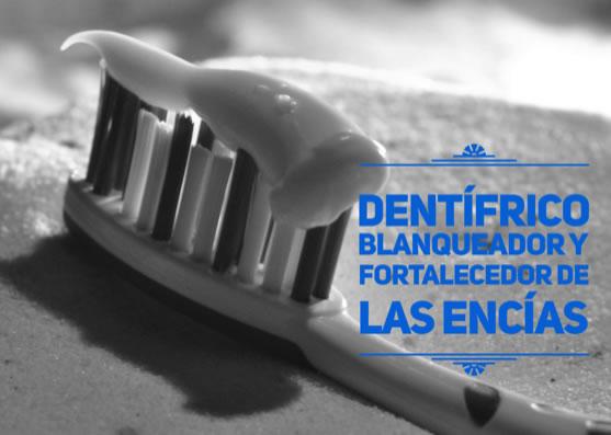 Receta de dentífrico blanqueador y fortalecedor de las encías