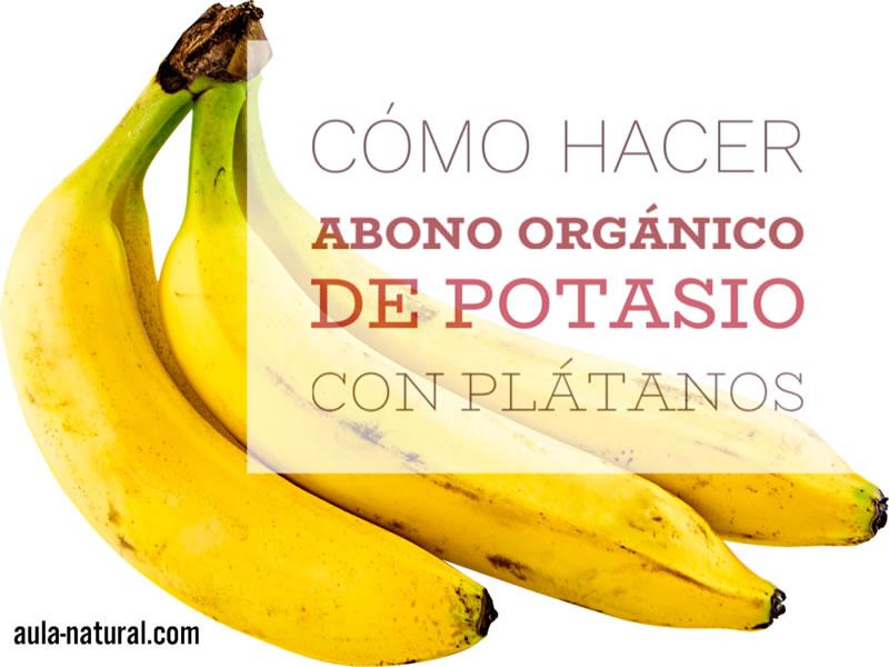 Cómo hacer abono orgánico de potasio con plátanos