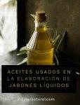 Aceites usados en la elaboración de jabones líquidos