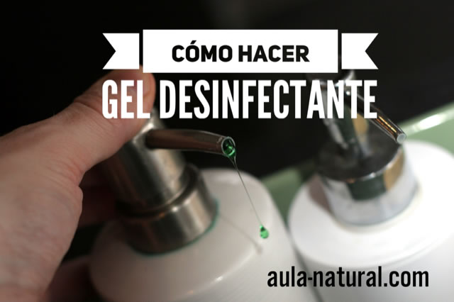 Gel desinfectante para las manos