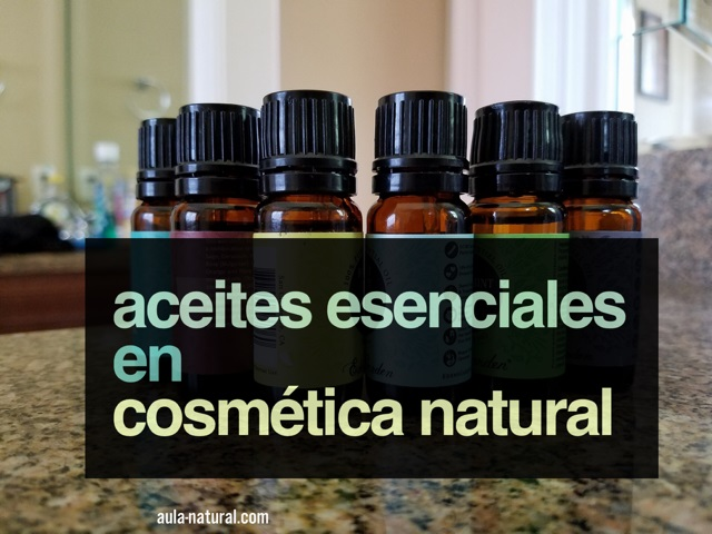 Los aceites esenciales en cosmética natural