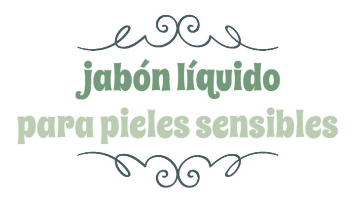 Jabón líquido para pieles sensibles