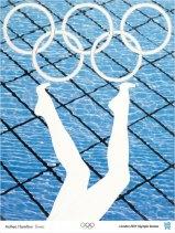 Cartel que se inspira nos deportes acuáticos.