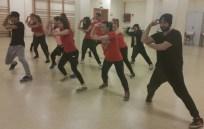 Ensayo del Grupo de Danza LED-UCO- con el coreografo y balilarín TESER