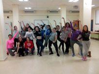 Integrantes del Grupo de Danza LED-UCO en el Taller organizado por la Casa de la Juventud