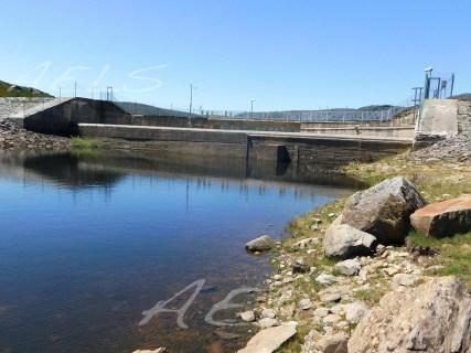 Nivel de agua muy bajo en julio