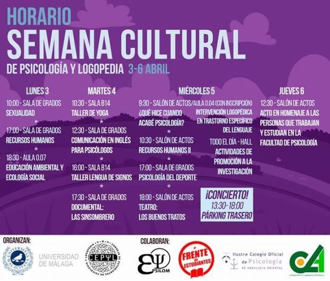 Semana Cultural Psicologia 03-04-2017